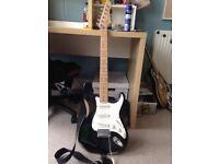 Black Stratocaster Style Guitar