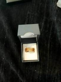 BRAND NEW GOLD PLATED TOPAZ COLOURED RING