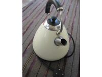 Sainsburys Home Pyramid Cream Stainless Steel Automatic Electric Kettle for £10.00