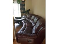 5 Seater Electric Leather 2x Recliner Corner Sofa