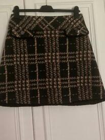 Black and Beige Mini Skirt
