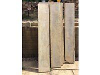 7 x concrete gravel boards fence panels