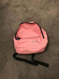 Pink Slazenger rucksack