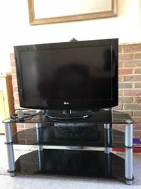 32 inch LG television with 3 tier stand