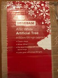 Artic white Christmas tree