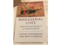 Managerial Lives. Leadership and Identity in an Imperfect World. Sveningsson and Alvesson