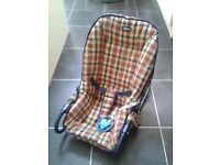 Chicco baby rocker seat (Rocker/or Stable choice) in unisex checked padded material