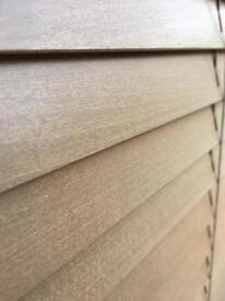 Oak effect wooden blinds - 3 different sizes