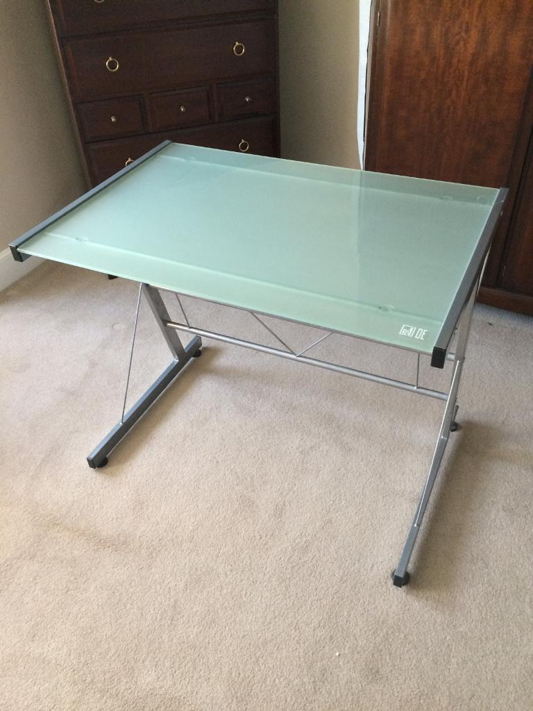 Glass top desk / computer table