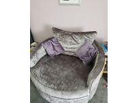 2 seater love seat (swivel chair)