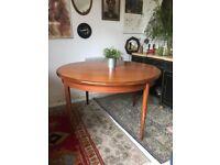 Vintage Mid Century G Plan Fresco Teak Dining Table