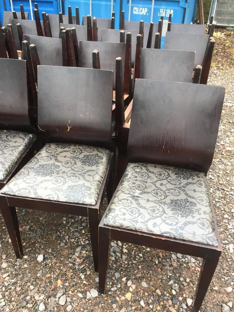 42 restaurants chairs, cafe chairs, bistro chairs. happy to sell in smaller lots