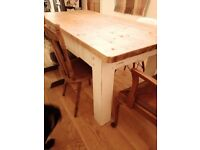 Rustic dining table - solid wood
