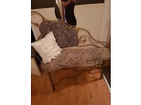 Lovely gold wrought iron chaise longe