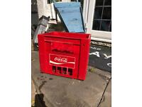 Vintage Coca Cola crate prop wedding shop retail pub display