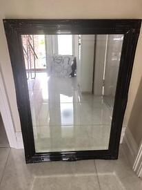 Black ornate mirror for sale (2 available)