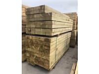 🌲 *New* Pressure Treated Wooden/ Timber Railway Sleepers ~ 190 x 90 x 2.4M