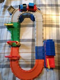 Thomas the tank engine train set.