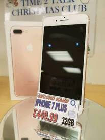 Apple iPhone 7 - O2 - 32gb - Rose gold