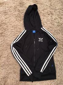 Women's black Adidas tracksuit jacket
