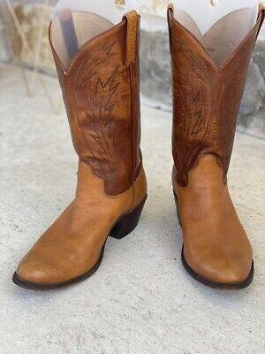 Espinoza Bootmaker Handmade Bullhide Cowboy Boots 10E