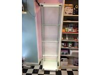 Brand New Glass Display Storage Cabinet Counter with 3 Shelves & With LED LIGHTS