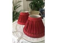 Two x Laura Ashley deep red lamp shades £15 both