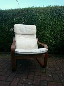White IKEA Poang Chair