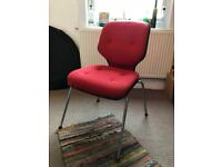 Red comfy office Chair, ready to collect asap.