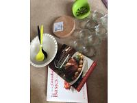 Kitchen bundle - large pie dish, cookery books, ramekins, salad spoons etc NEW