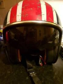 Origne motorclycle helmet. Size XS half face helmet. Immaculate