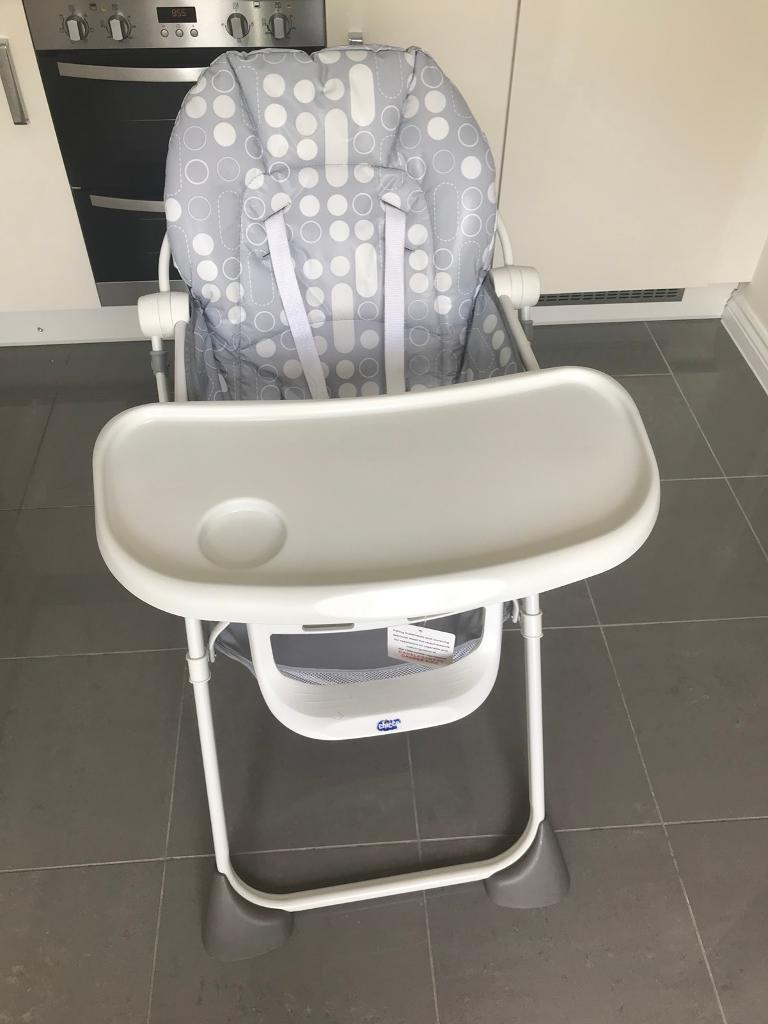Chicco High Chair Grey & White | in Peterborough, Cambridgeshire | Gumtree