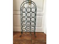 Metal Freestanding wine/bottle holder VGC