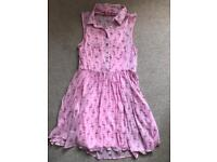 Pink flamingo dress age 12-13years old