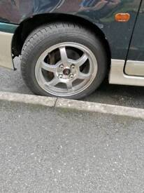 """14"""" Alloy wheels and brand new tyres"""