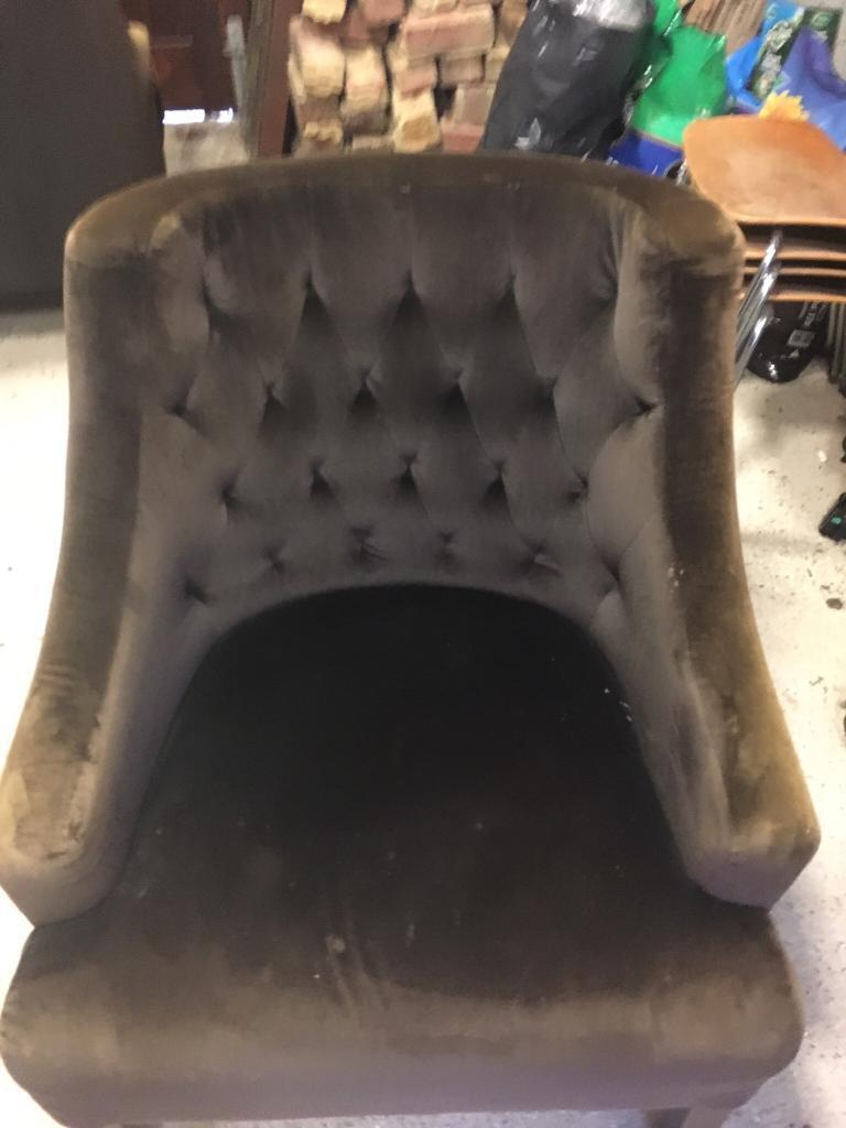Free Chocolate Brown Armchairs x 2