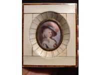Rare! 1700s Duches of Devonshire Hand Painted Signed!! Potraite!!