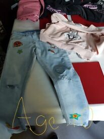 Girls jeans and sweatshirt from Next