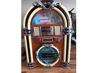 Flashing jukebox cd and radio player