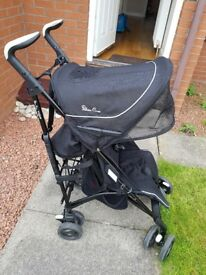 Black silver cross pop buggy inc raincover seat liners travel bag instructions.used as holiday buggy