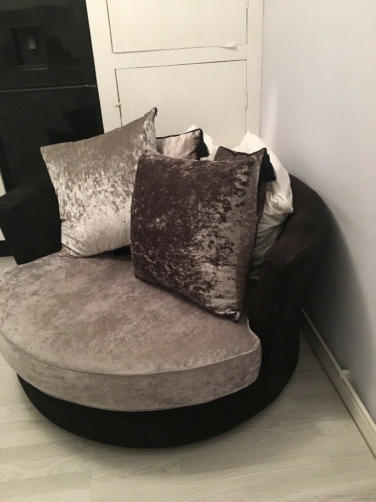 Next Swivel Cuddle Arm Chair Sofa Living Room In