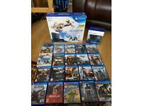 ps4 slim 500gb brand new boxed 19 games 2 controllers