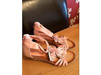Size 5 pink sandals brand new