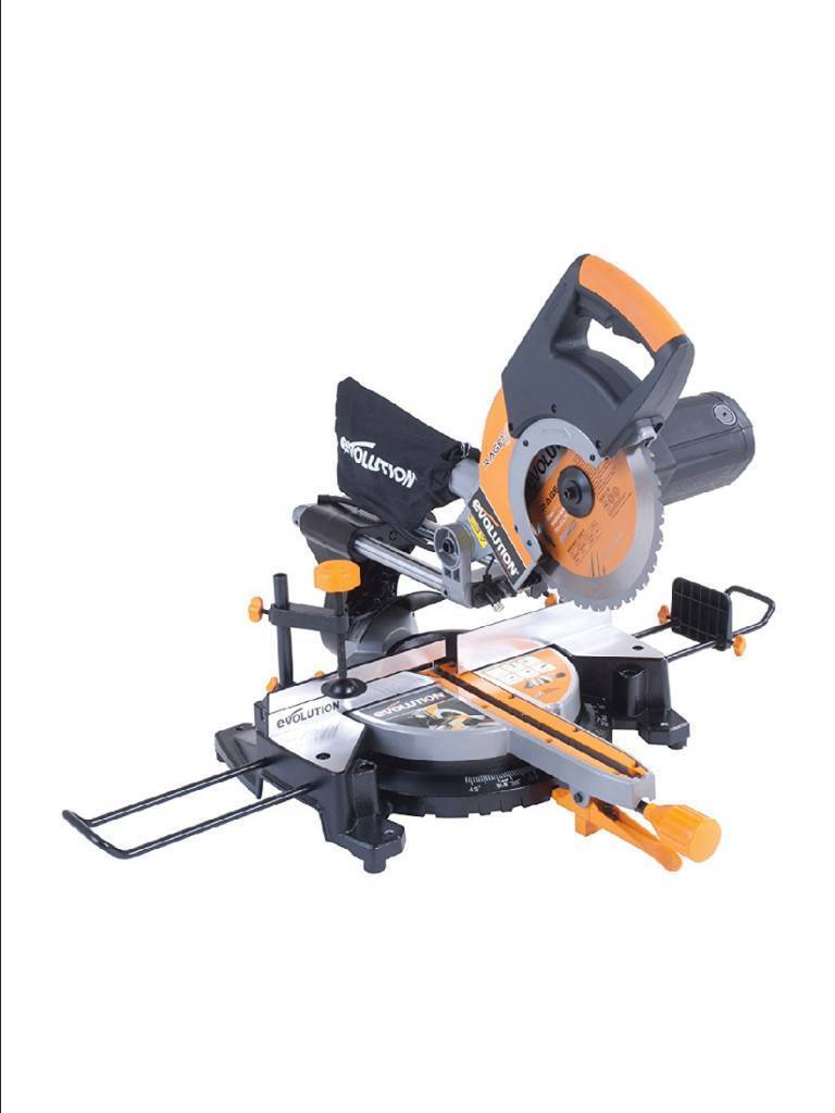 Evolution rage3 multipurpose sliding mitre saw 255mm with accessory evolution rage3 multipurpose sliding mitre saw 255mm with accessory pack diamond blade stand greentooth Image collections