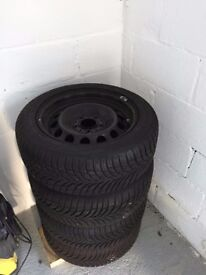 GoodYear Ultragrip Winter Tyres and Steel Rims - 205/55R16