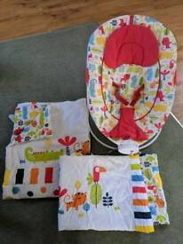 Bouncer and matching cot set