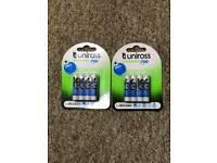 48 X Uniross AAA 700 mAh Rechargeable Batteries NiMH ACCU LR03 HR03 DC2400