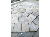 Hexagonal paving set 3.3m