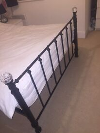 Black metal bed frame (double)