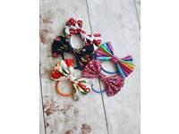 Handmade hair bows with elastic hair bands